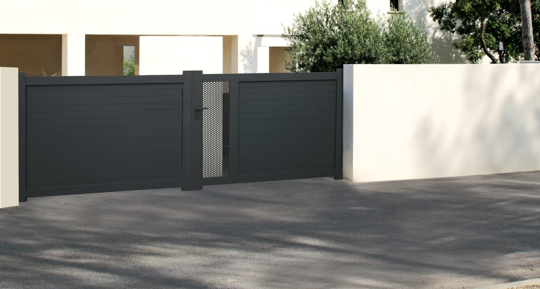 cl ture et portail en aluminium technal. Black Bedroom Furniture Sets. Home Design Ideas
