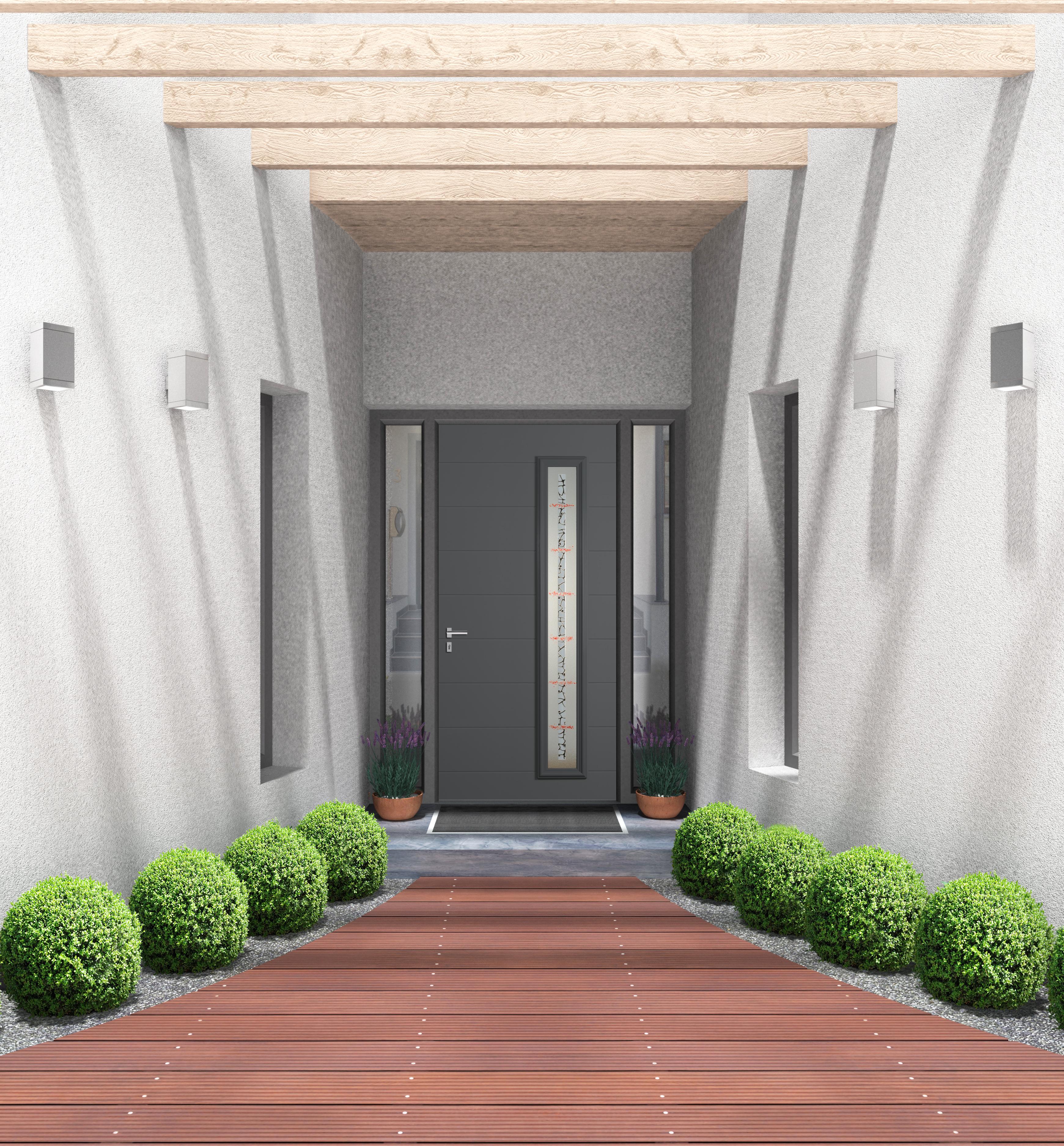 Porte d 39 entr e aluminium technal Porte d entree technal